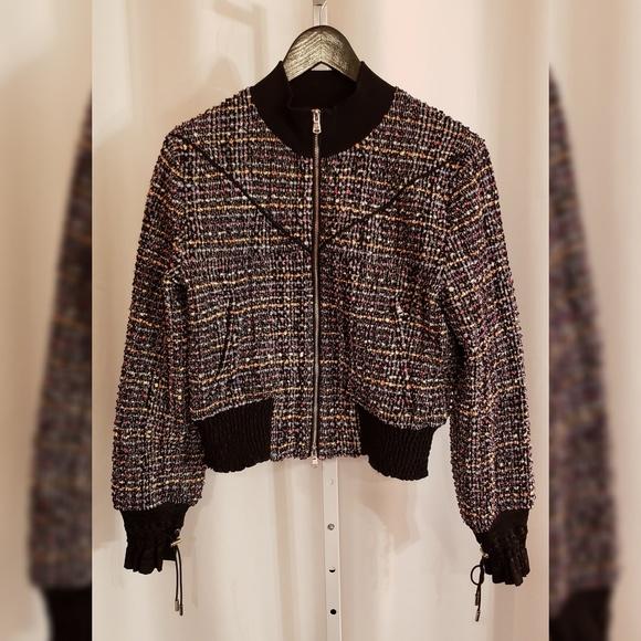 3.1 Phillip Lim Jackets & Blazers - Phillip Lim Multi-color tweed bomber jacket sz 2